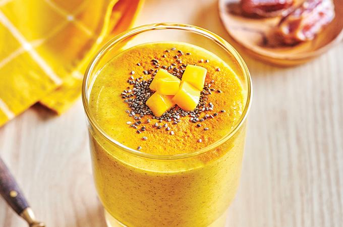 Smoothie d'or à la mangue (sans produits laitiers)