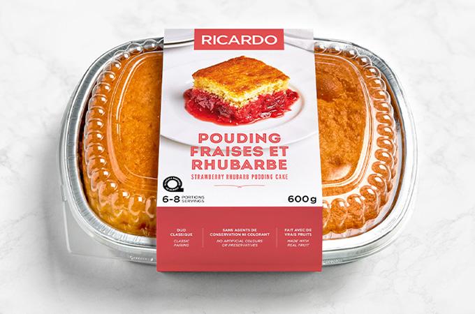 Pouding fraises et rhubarbe RICARDO: notre duo fruité favori en format barquette!