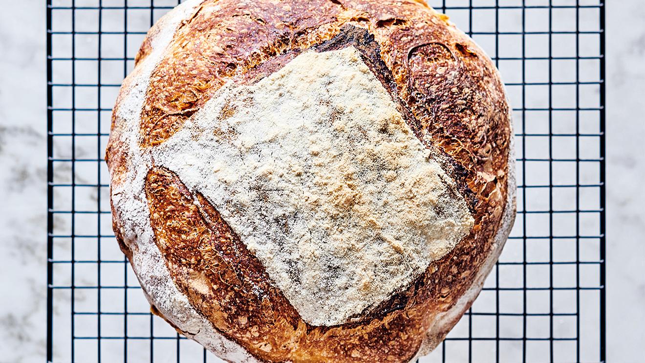 sourdough bread - unmould
