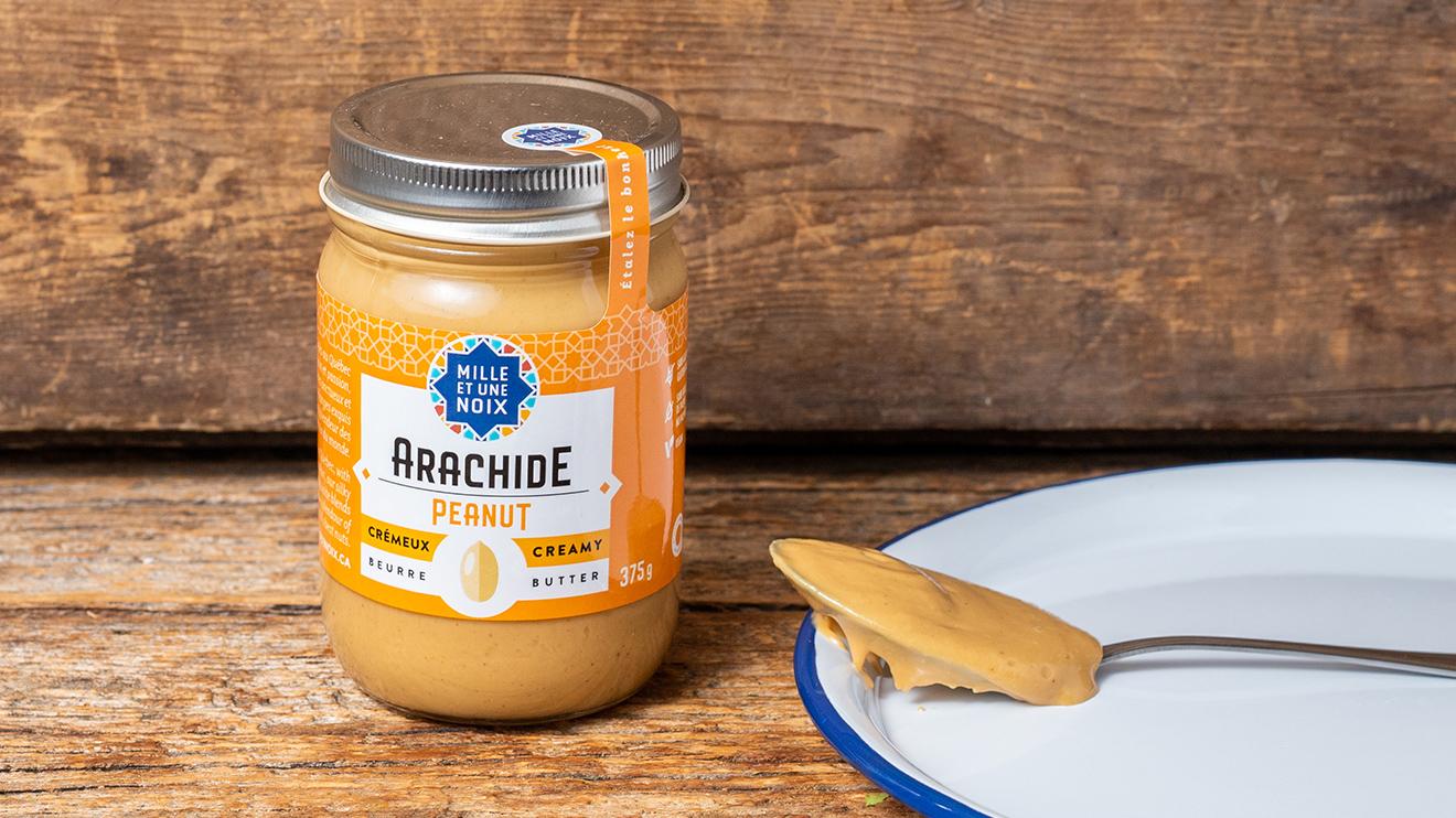 Beurre d'arachide naturel de Mille et une noix