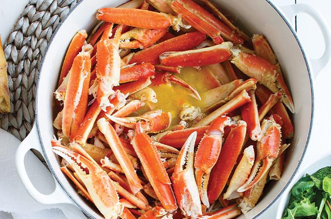 Crabe chaud au beurre