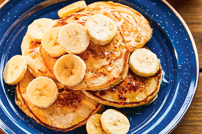 Pancakes aux bananes et à l'avoine