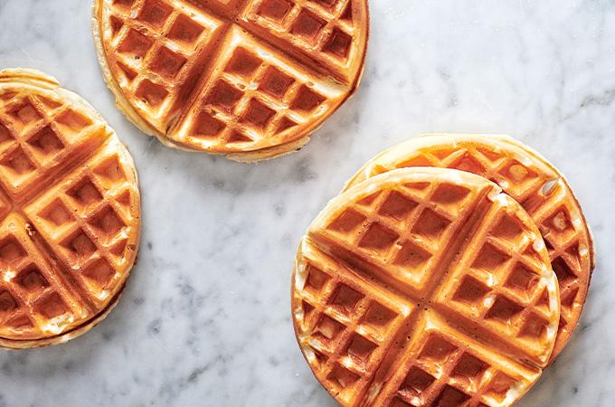 Egg White Waffles