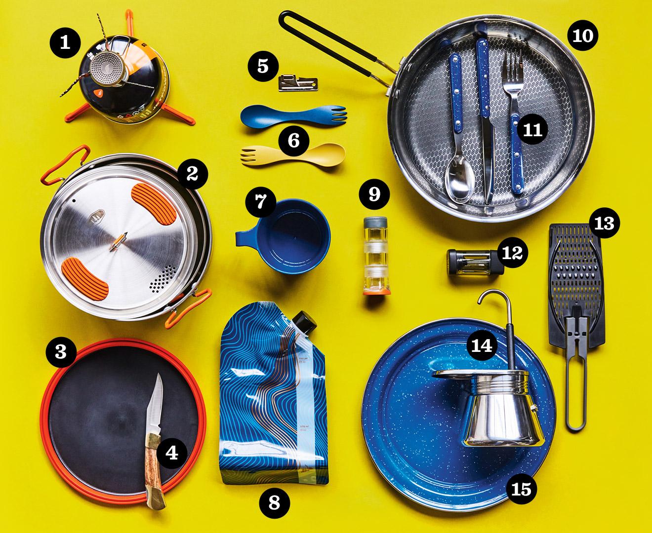 équipement pour cuisine en camping