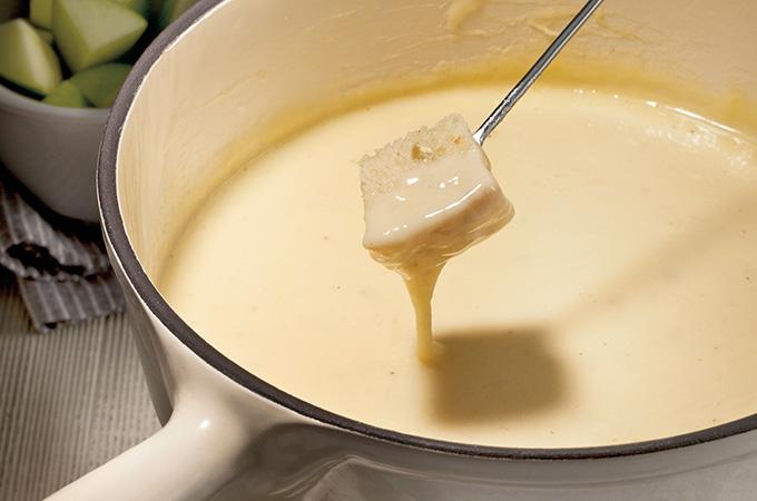 Fondue au fromage suisse (la meilleure)