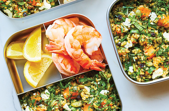 Tabbouleh with Sweet Potato, Feta and Currants