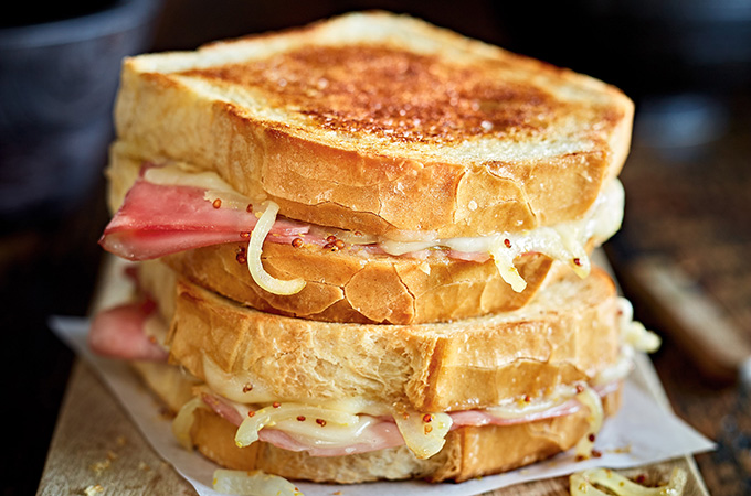 Grilled cheese au jambon