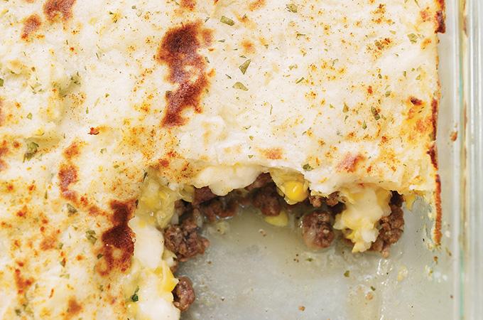 Pâté chinois au fromage en grains