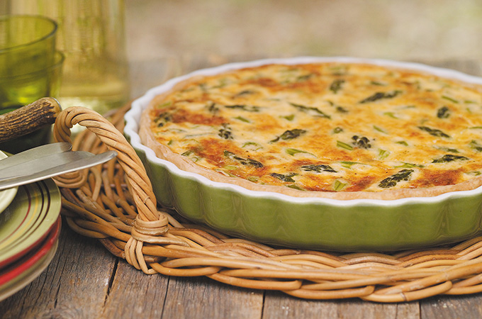 Quiche aux asperges et au fromage Valbert