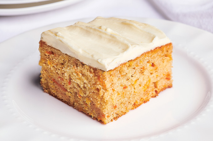 One Layer Carrot Cake