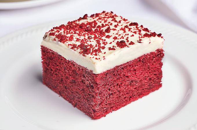 One Layer Red Velvet Cake