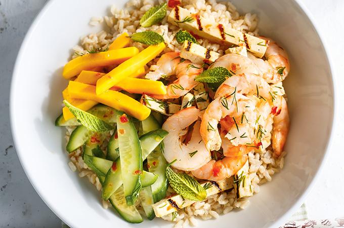 Shrimp Rice Bowls