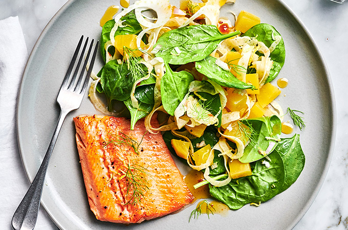 Truite et salade de betteraves