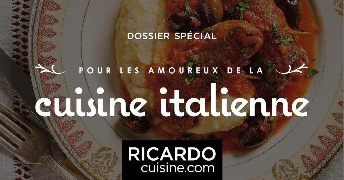 Cuisine italienne ricardo for Cuisine italienne x